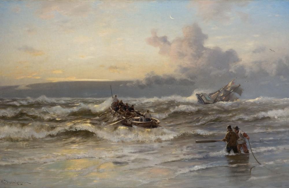 Heinrich Petersen-Angeln - Ausfahrendes Rettungsboot