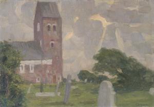 Johann Vincent Cissarz - Kirche von Boldixum auf Föhr