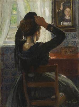 Otto H. Engel - Vor dem Spiegel (Käte Lorenzen)