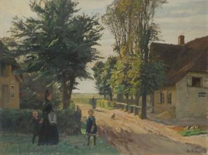 Otto Heinrich Engel, Dorfgasse in Alkersum