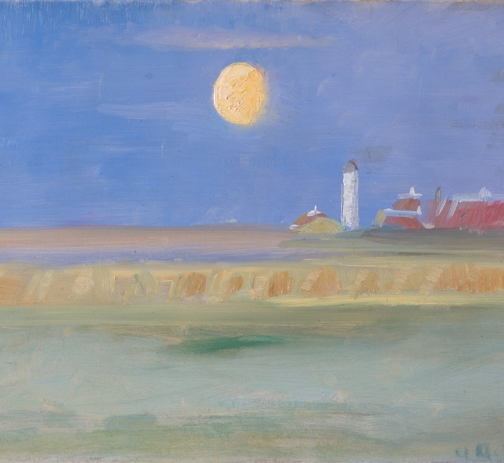 Mondklarer Abend am Leuchtfeuer von Skagen