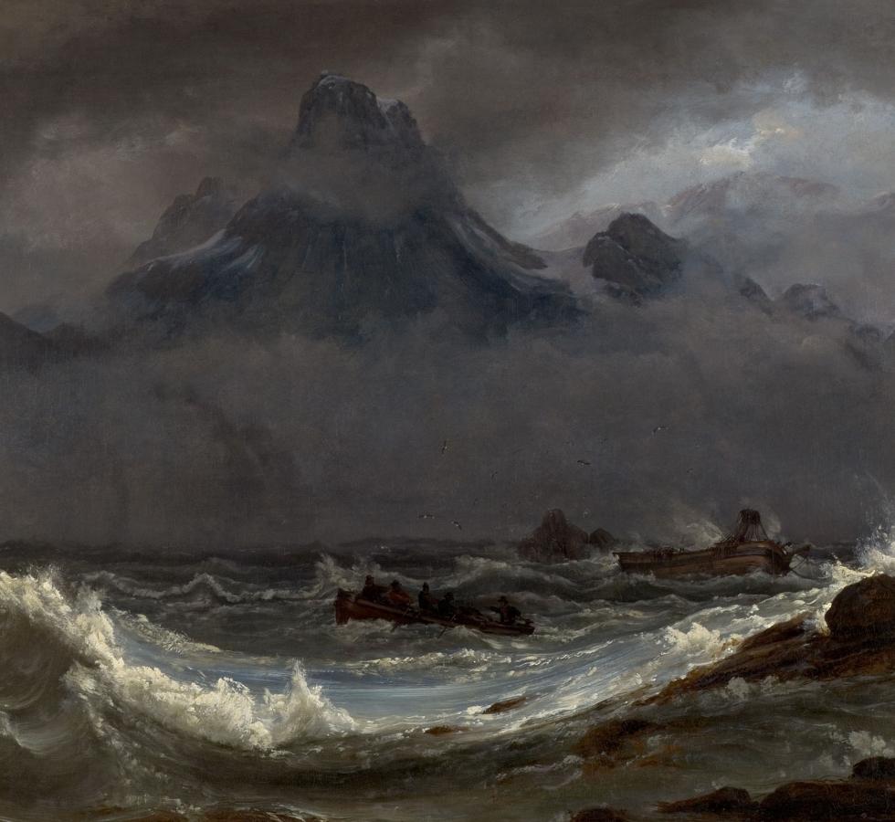 Johan Christian Dahl - Schiffswrack an der Küste Finnmarks